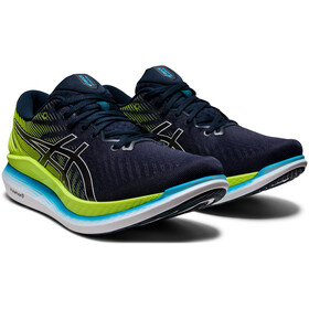 asics Glide Ride 2 Shoes Men, french blue/hazard green